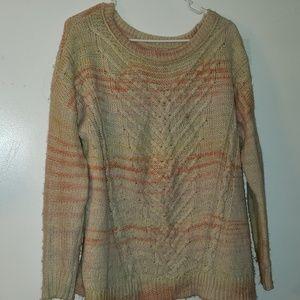 Cream, Rose, & Lilac - •AEO•   Chunky-Knit Sweater